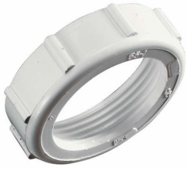 "Keeney® 55WK Plastic Slip Joint Nut with Washer, 1-1/2"" x 1-1/2"", White"