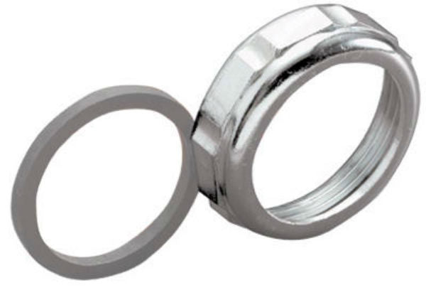 "Keeney® 916DK Die Cast Slip Joint Nut w/ Washer, 1-1/2"" x 1-1/4"", Chrome Plated"