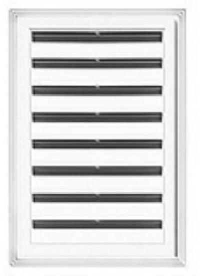 "Builders Edge® 120061824123 Rectangular Gable Vent, White, 18"" x 24"""