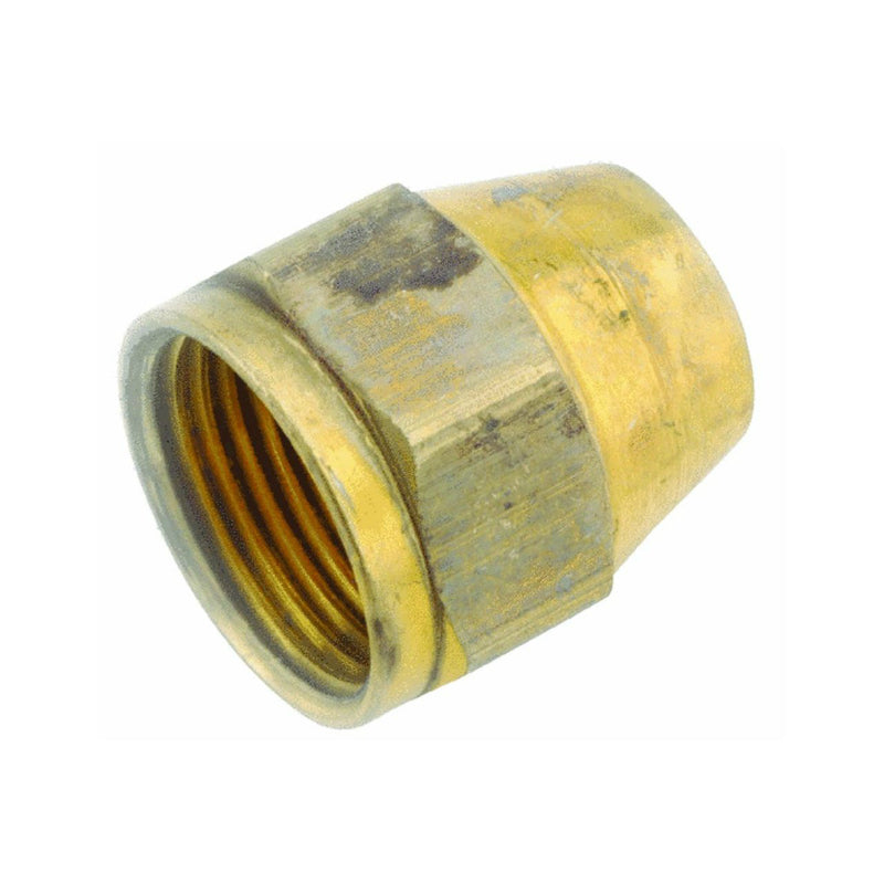 "Anderson Metals 54800-06 Brass Space Heater Nut, 3/8"" Flare"