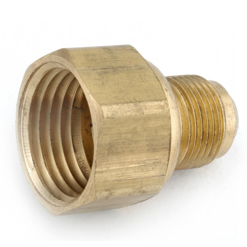 "Anderson Metals 54806-0608 Brass Flare Connector, 3/8"" x 1/2"" FPT"