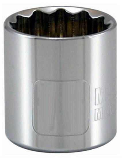"Master Mechanic 107342 12-Point Socket, 3/8"" Drive, 9 MM, Chrome Vanadium Steel"