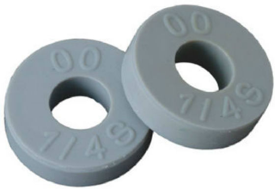 "BrassCraft SCB2098 Flat Faucet Washer, 1/2"" O.D. Gray, 10 Pack"