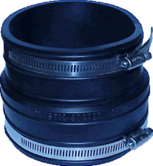 "Fernco® P1002-44 Clay Pipe Flexible Coupling, 4"" x 4"""
