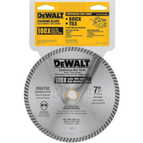 DeWalt® DW4702 XP™ Extended Performance Dry Cut Diamond Wheel, 7""