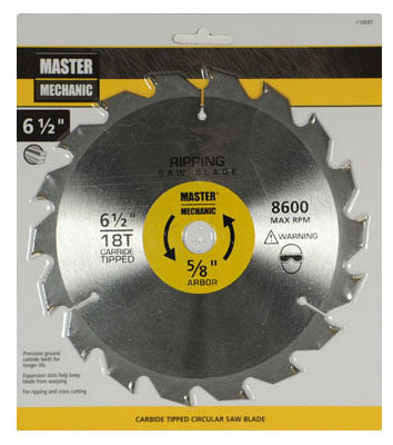 Master Mechanic 112037 Combination & Rip Circular Saw Blade, 18 Teeth, 6-1/2""