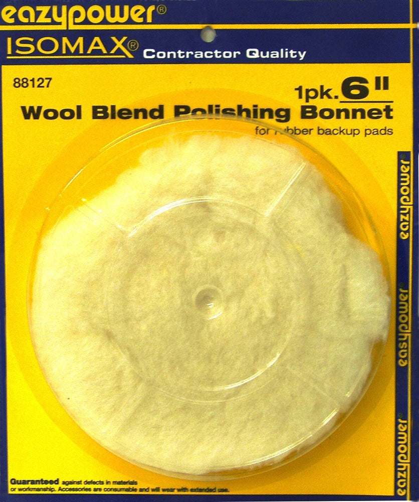 EazyPower 88127 Lambs Wool Blend Polishing Bonnet, 6""