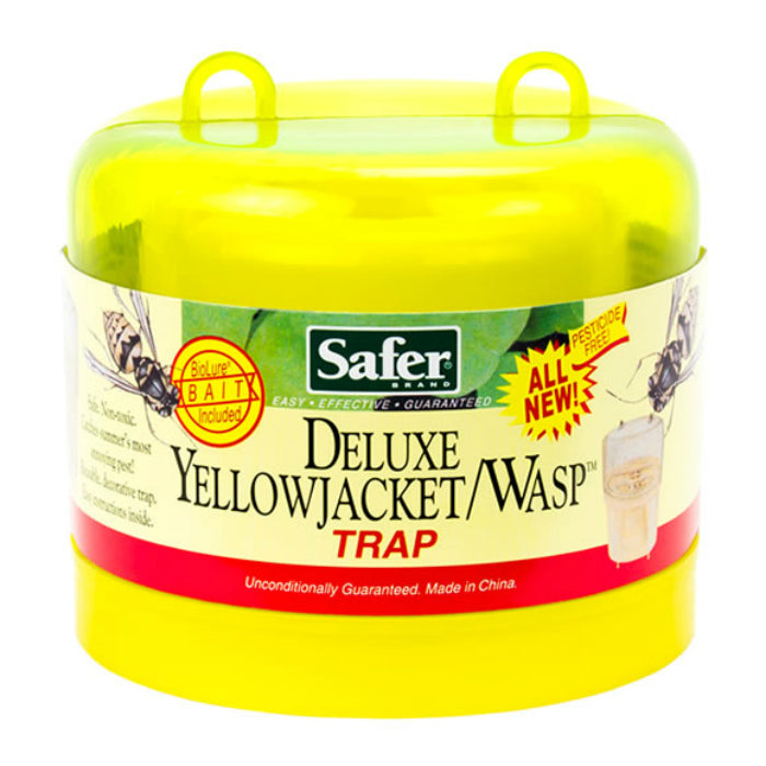 Safer® 00280 Deluxe Yellow Jacket & Wasp Reusable Trap with Bait