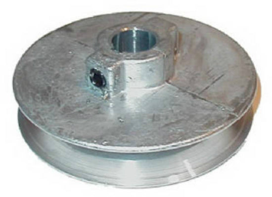 "Chicago Die Casting 400A6 Single V-Groove Die Cast Pulley, 5/8"" x 4"""