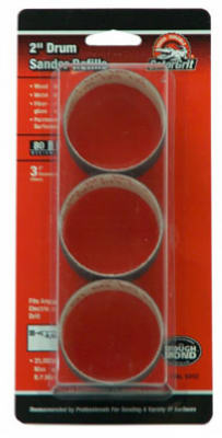 "Gator 6092 Medium Sanding Drum Kit, 80 Grit, 2"" x 1-1/2"""