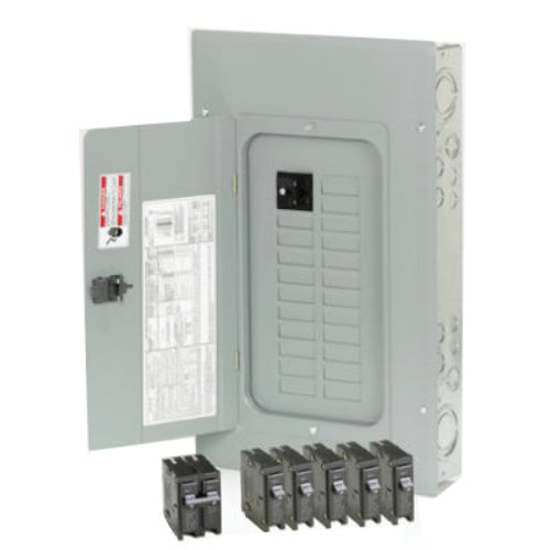 Eaton BR2020B100V Main Breaker Installed Indoor Load Center, 100A