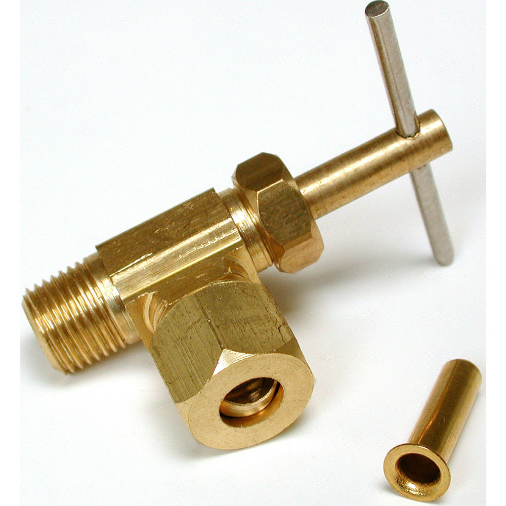 "Dial Mfg 9440 Angle Needle Valve, Fits Sill Cocks & Pipe Adapter, 1/4"" x 1/8"""