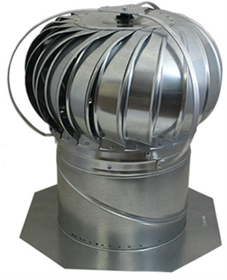 Air Vent 52605 Externally Braced Galvanized Turbine with Base, Mill, 12""