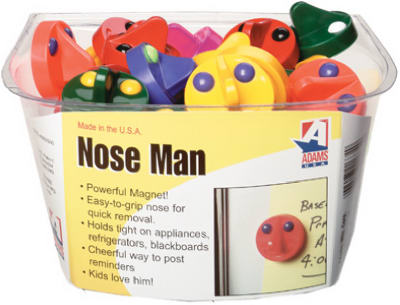 Adams 4000-50-3848 Nose Man Novelty Magnet, Assorted Colors
