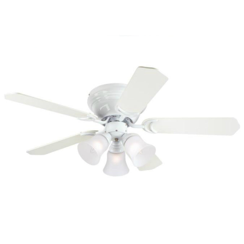 "Westinghouse 78508 Contempra Trio 5-Blade Ceiling Fan, 42"", White Finish"