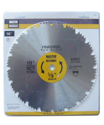 "Master Mechanic 118760 Combination Steel Saw Blade, 10"",  80 Teeth"