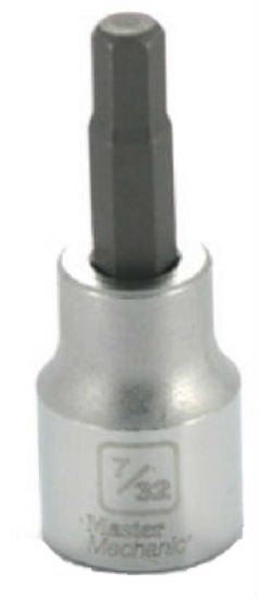 "Master Mechanic 123646 Hex Bit Socket, 3/8"" Drive, 7/32"""