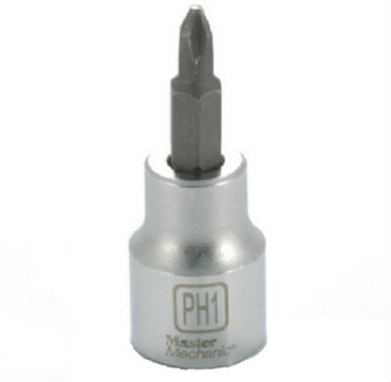 "Master Mechanic 123893 Phillips Bit Socket, 3/8"" Drive, #1"