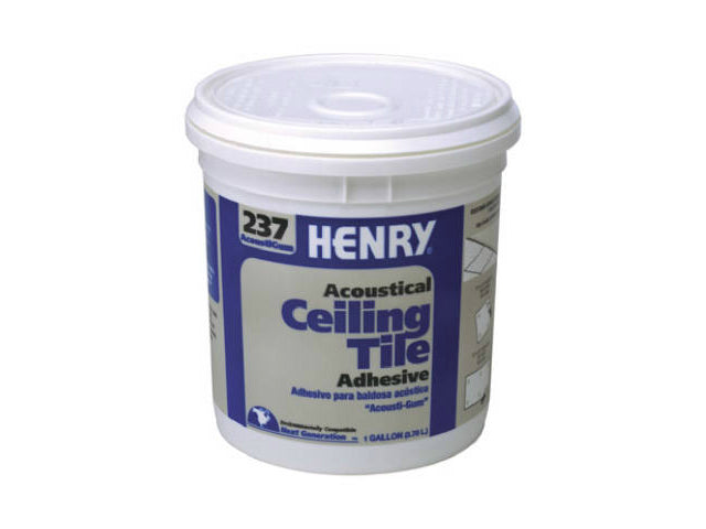 HERNY® 12016 AcoustiGum™ Acoustical Ceiling Tile Adhesive, #237, 1 Gallon