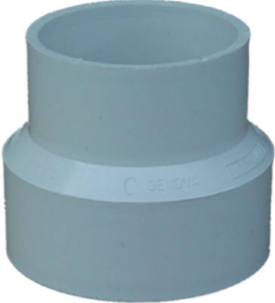 "Genova 40132 PVC-DWV Reducing Sewer & Drain Coupling, 3"" Sewer x 2"""