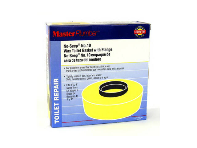 Master Plumber 001117-12 No-Seep® Extra Thick Wax Gasket with Flange, #10