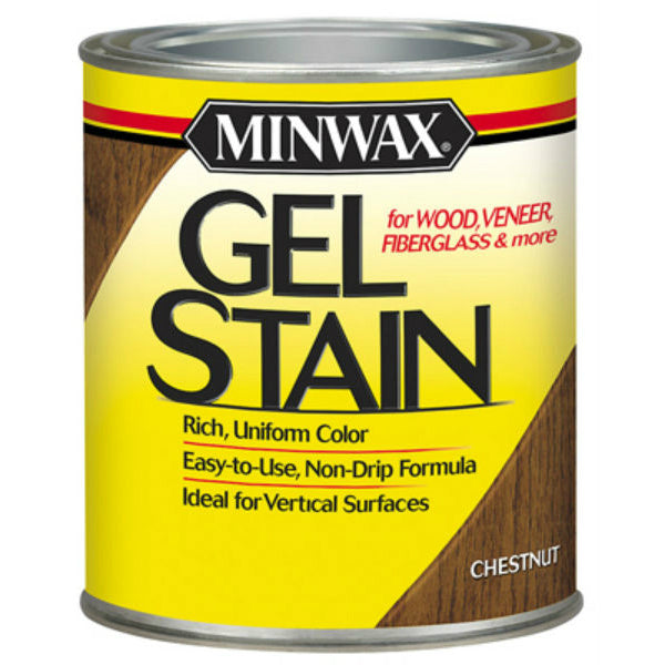 Minwax® 260104444 Gel Stain for Wood/Veneer/Fiberglass, 1/2 Pt, Chestnut