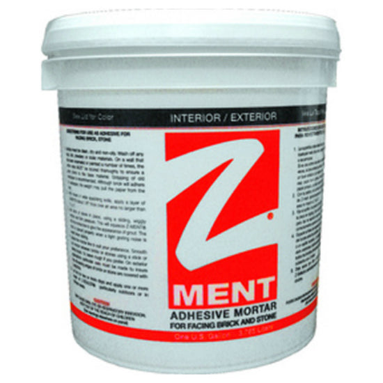 Z-Brick® ZD045015 Z-Ment Mortar Adhesive, White, 1 Gallon