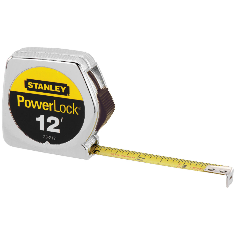 "Stanley® 33-212 PowerLock® Metal Case Tape Rule, 1/2"" x 12'"