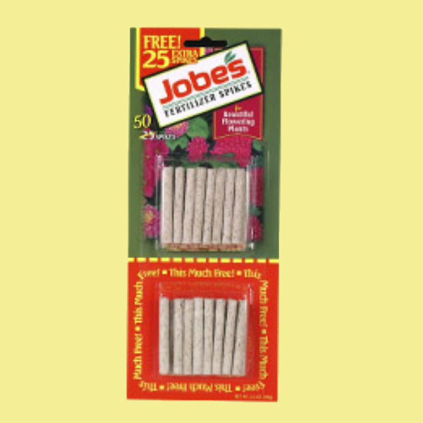 Jobe's® 05201T Flowering Plant Food Spikes, 10-10-4, 50-Pack