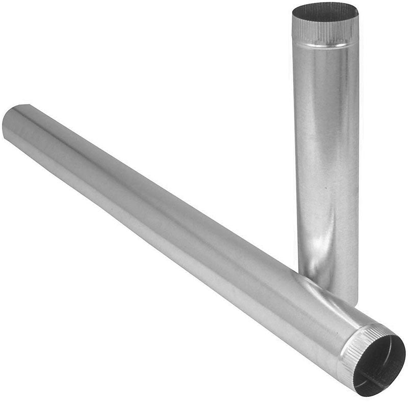 "Imperial GV1604 Galvanized Furnace Pipe, 26 Gauge, 3"" x 24"""