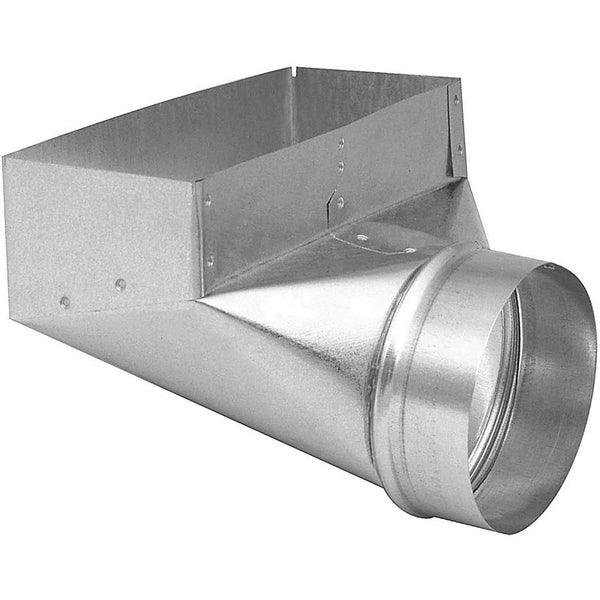 "Imperial GV0627-C HVAC Galvanized 90-Degree Angle Boot, 4"" x 12"" x 6"""