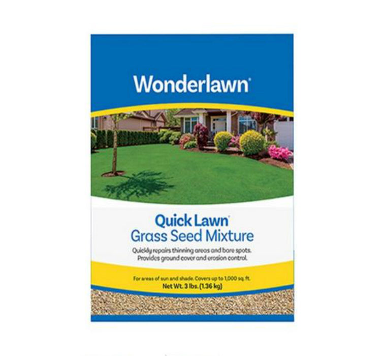 Wonderlawn 135936 Quick Lawn Grass Seed Mixture, 3 Lbs