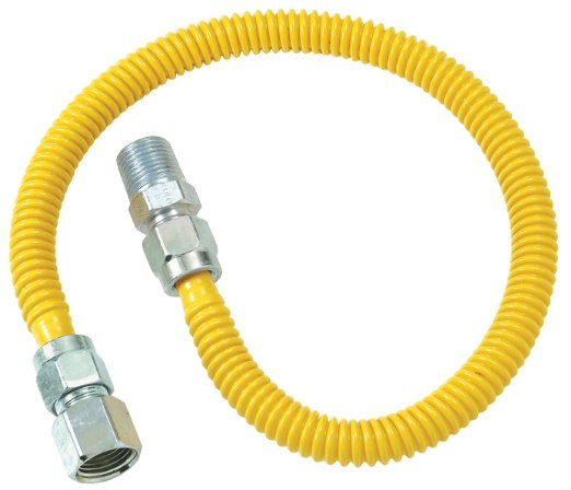 BrassCraft CSSD54-48-P SD Series Stainless Steel Gas Connector, 48''