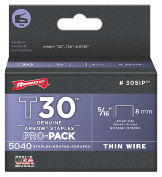 "Arrow Fastener 305IP Wire Staple, 5/16"" Thin, 5000-Pack"