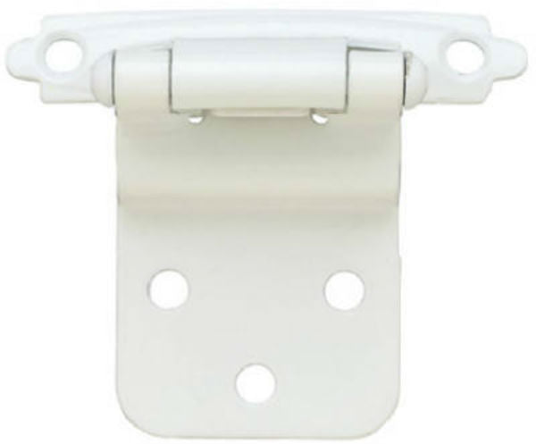"Brainerd® H0104AV-W-O2 Self-Closing Inset Hinge, 3/8"", White, 2-Pack"
