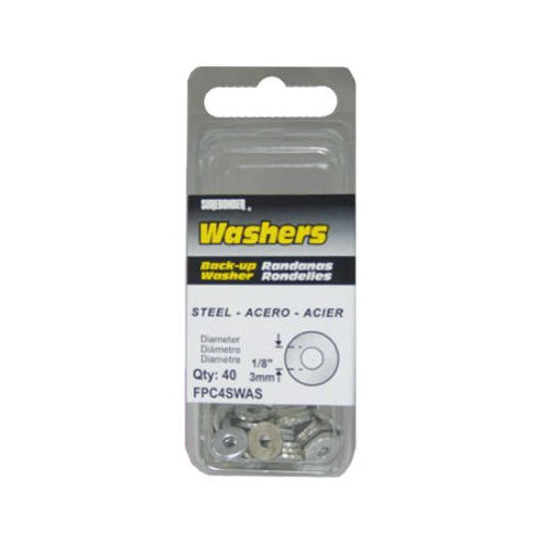 "Surebonder® FPC4SWAS Steel Washer, 1/8"" Dia., 40-Pack"