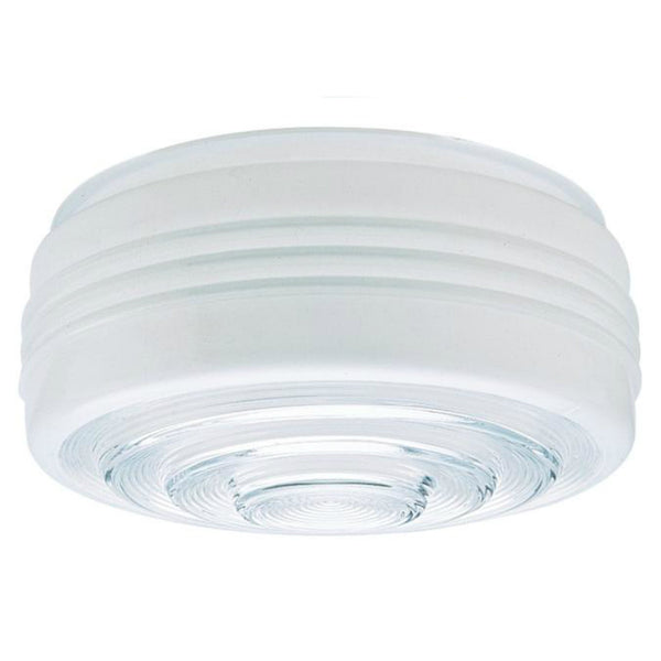 "Westinghouse 85608 Drum Ceiling Shade, 8-3/4"", White & Clear"