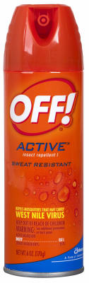 Off® 01810 Active Insect Repellent, 6 Oz, Aerosol
