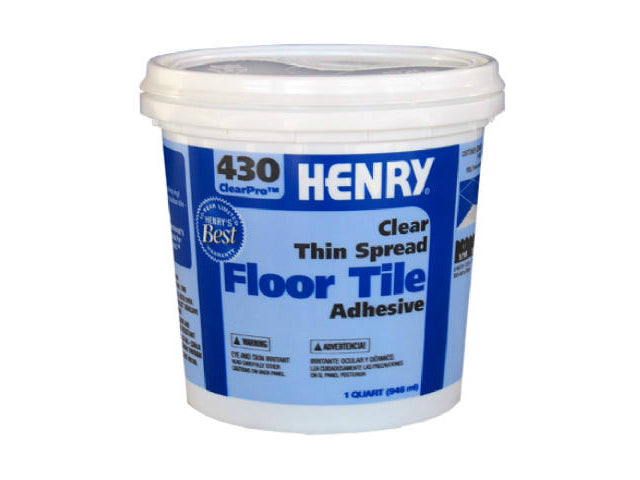 HENRY® 12097 ClearPro™ Clear VCT Floor Adhesive, #430, 1 Qt