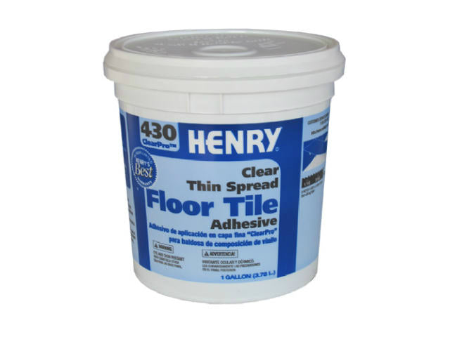 HENRY® 12098 ClearPro™ Clear VCT Floor Adhesive, #430, Gallon