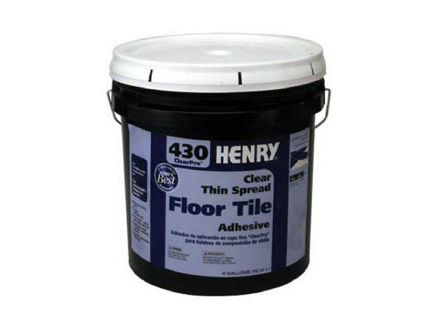 HENRY® 12102 ClearPro™ Clear VCT Floor Adhesive, #430, 4 Gallon