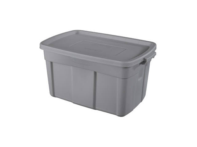 Rubbermaid® RMRT310001 Roughneck Storage Box Tote, 31 Gallon, Steel Gray