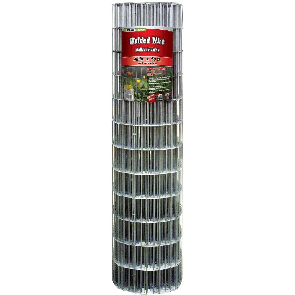 "YardGard® 308302B Galvanized Welded Wire Fence, 14-Gauge, 4""x2"" Mesh, 48""x50'"