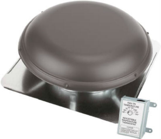 Air Vent 53827 Roof Mounted Power Attic Ventilator, Brown