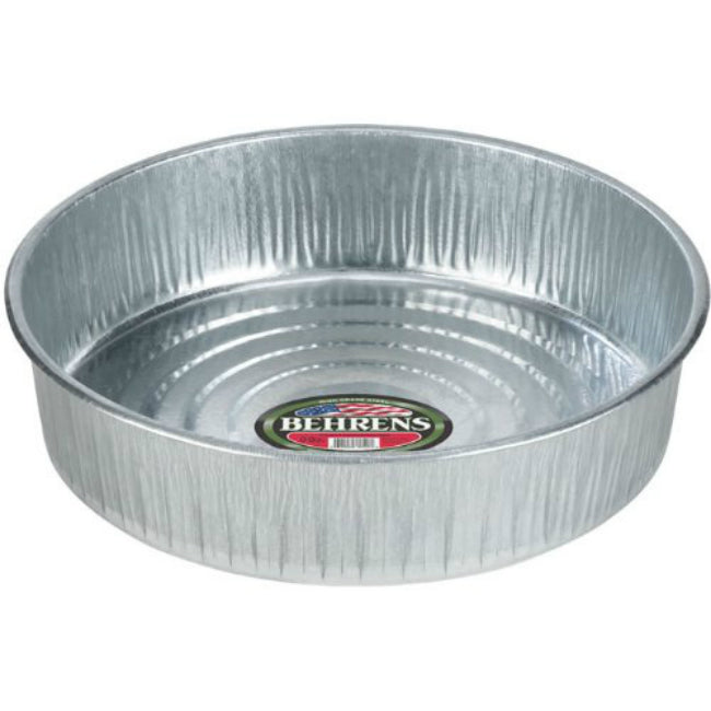 Behrens 2168 Seamless Galvanized Drain/Utility Hog Pan, 3 Gallon