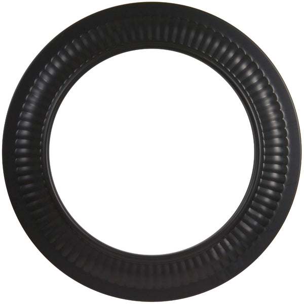 "Imperial BM0095 Stove Pipe Trim Collar, 24 Gauge, 7"", Black"