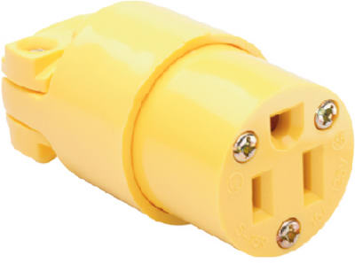 Pass & Seymour Commerical Grade Connector, 15A, 125V, Yellow