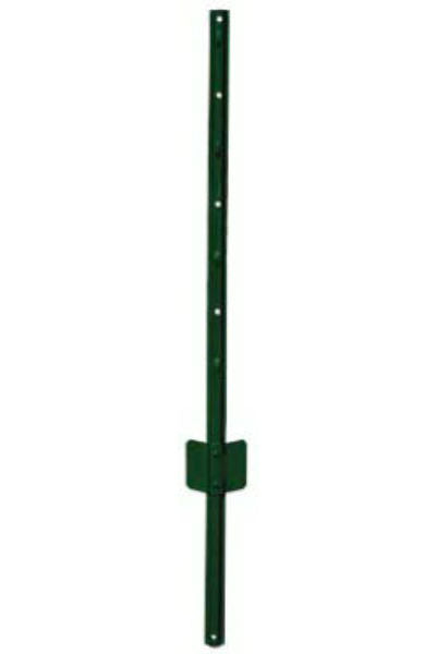 "YardGard® 901150A Light-Duty ""U"" Style Steel Fence Post, Green, 14-Gauge, 6'"