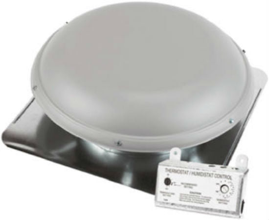 Air Vent 53830 Roof Mounted Power Attic Ventilator, RV26ML, Gray,