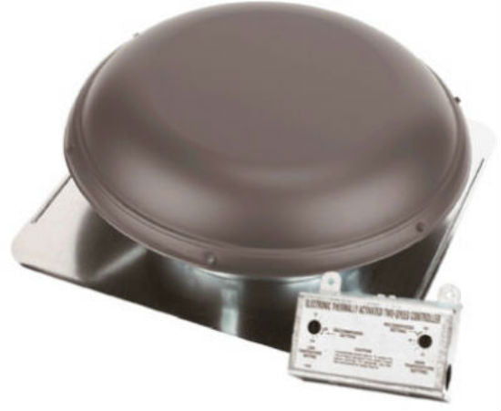 Air Vent 53833 Roof Mounted Power Attic Ventilator, Gray